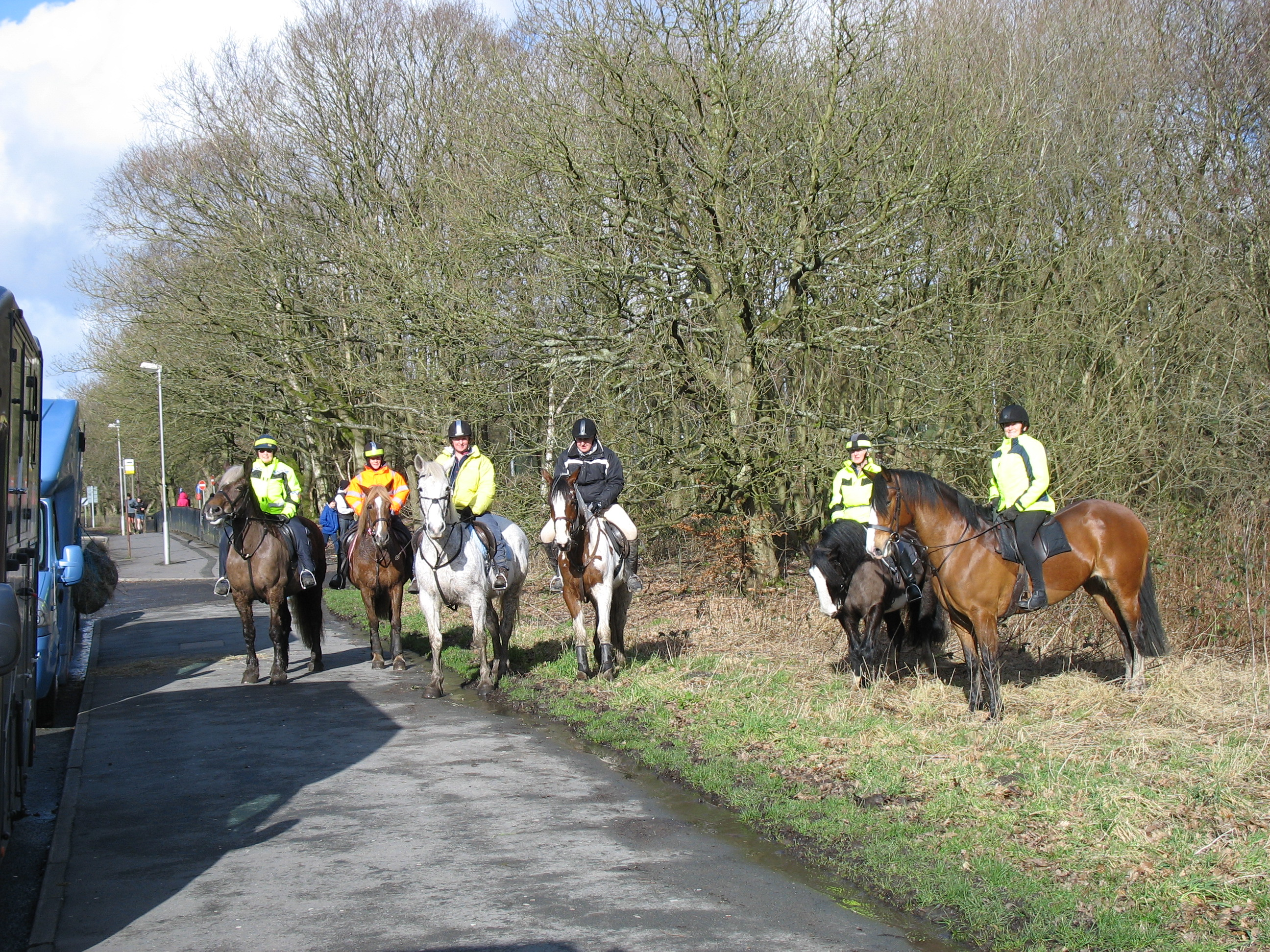 Six Riders ready for off